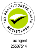 Australian registered tax agent 120x170